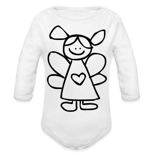 belinda's engeltje - Baby bio-rompertje met lange mouwen
