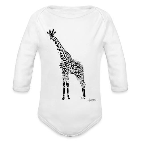 Black Girafe By Joaquín - Body Bébé bio manches longues