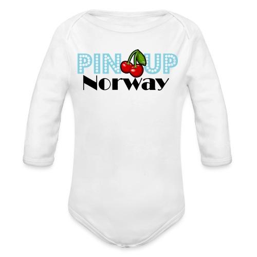 Pinup Norway blå - Økologisk langermet baby-body