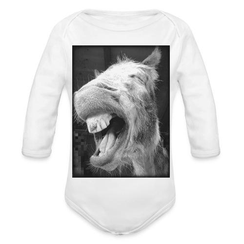 lachender Esel - Baby Bio-Langarm-Body