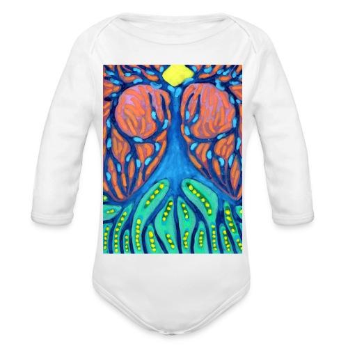 Drapiężne Drzewo - Ekologiczne body niemowlęce z długim rękawem