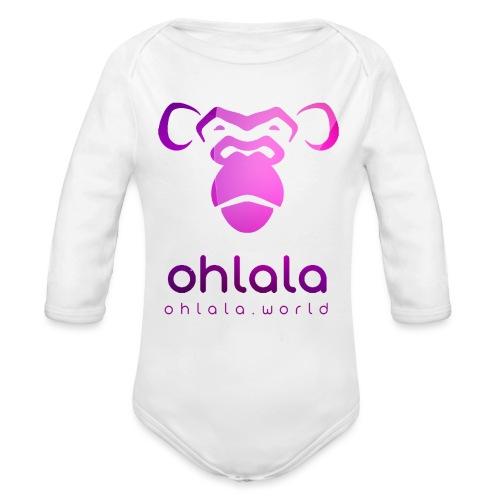Ohlala PURPLE - Body Bébé bio manches longues