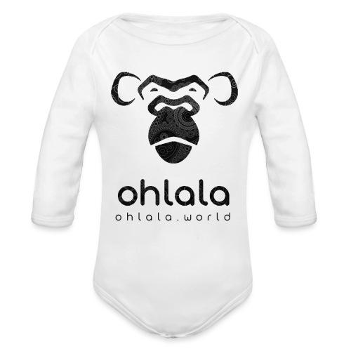 Ohlala Retro BLACK - Body Bébé bio manches longues