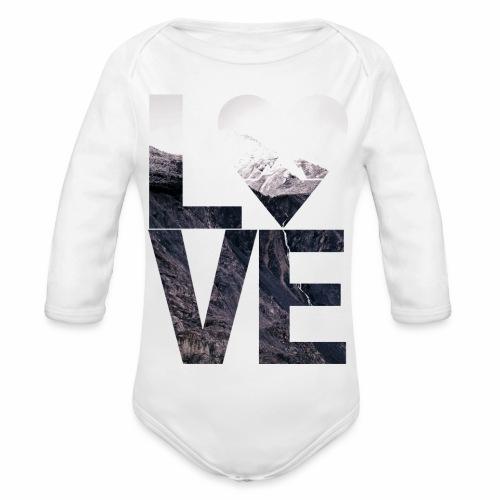 L.O.V.E - Mountains - Baby Bio-Langarm-Body
