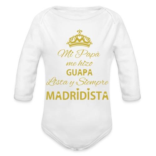 guapa lista siempre madridista - Body ecologico per neonato a manica lunga