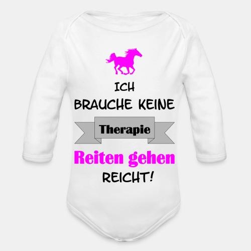 Ich brauche keine Therapi - Baby Bio-Langarm-Body