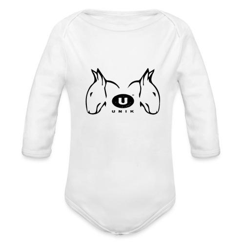 BULL TERRIER LOVE - Body ecologico per neonato a manica lunga