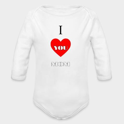 I love you mom (Te quiero mamá). - Organic Longsleeve Baby Bodysuit