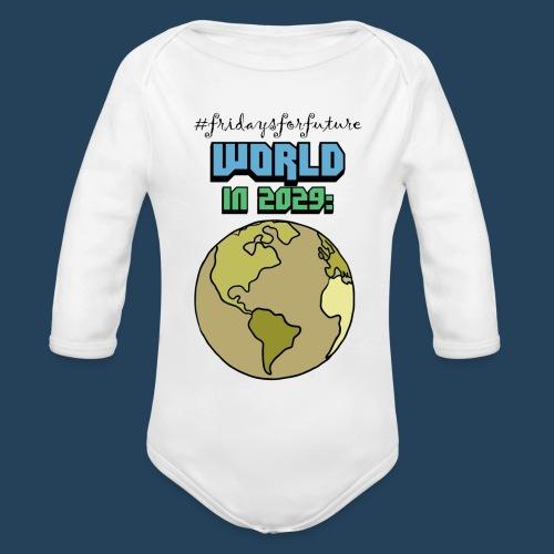 World in 2029 #fridaysforfuture #timetravelcontest - Baby Bio-Langarm-Body