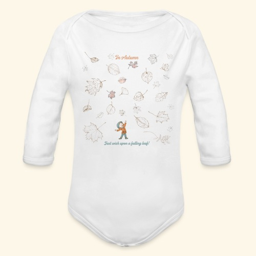 Just wish upon a falling leaf in Automn - Baby Bio-Langarm-Body