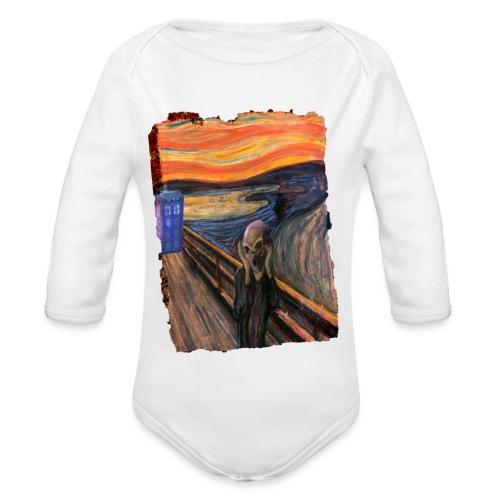 Screaming Tardis - Organic Longsleeve Baby Bodysuit