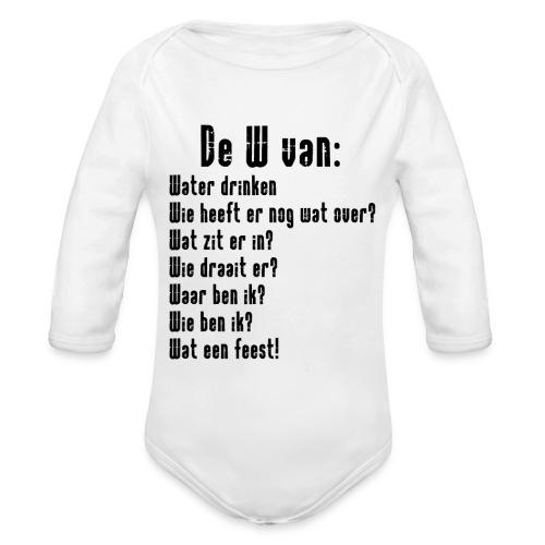 De W van: Ravers Editie - Baby bio-rompertje met lange mouwen