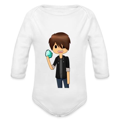 Minecraft Cartoon - Langærmet babybody, økologisk bomuld