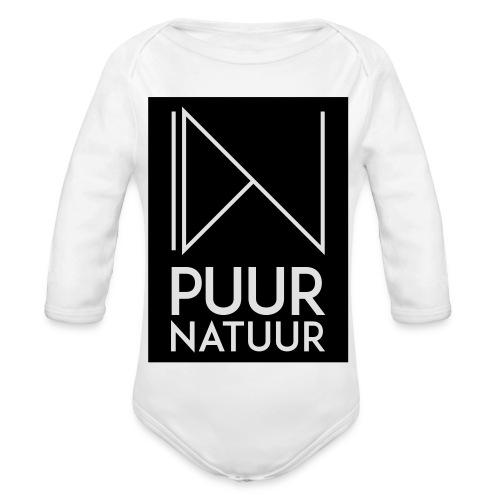Logo puur natuur negatief - Baby bio-rompertje met lange mouwen