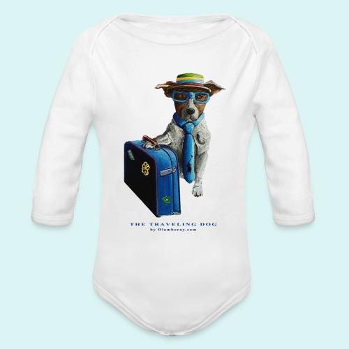 The Traveling Dog - Organic Longsleeve Baby Bodysuit