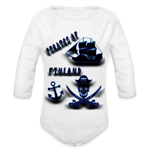 Pirates - Vauvan pitkähihainen luomu-body