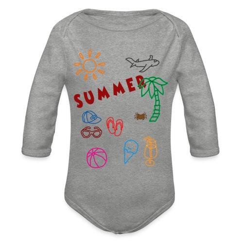 Summer - Vauvan pitkähihainen luomu-body