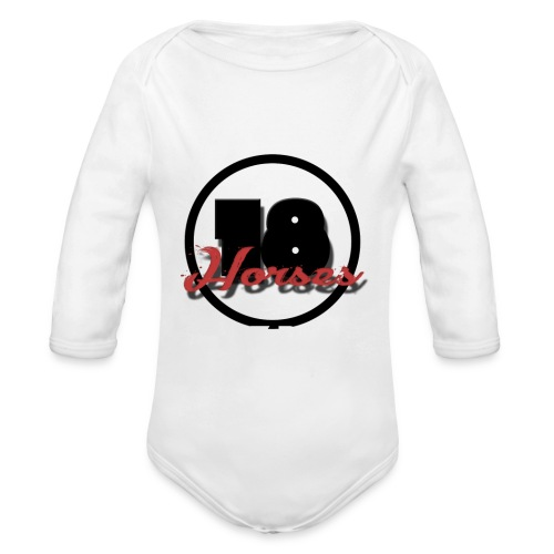 18 Horses - NKPG (White) - Ekologisk långärmad babybody