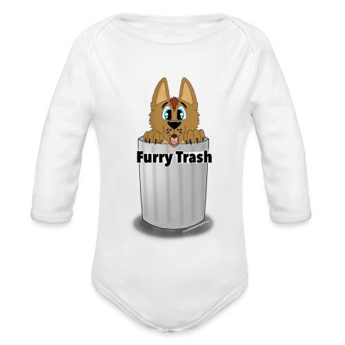Furry Trash - Langærmet babybody, økologisk bomuld