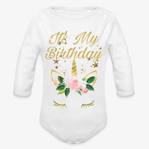 It's My Birthday - Body ecologico per neonato a manica lunga