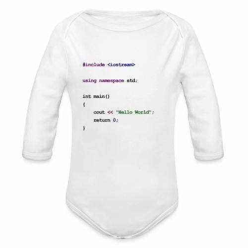 C++ Baby - Organic Longsleeve Baby Bodysuit