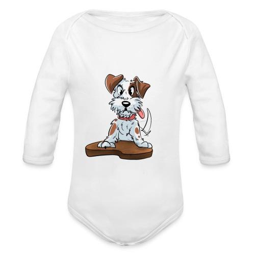 Jack Russell Terrier baby kleding. - Baby bio-rompertje met lange mouwen