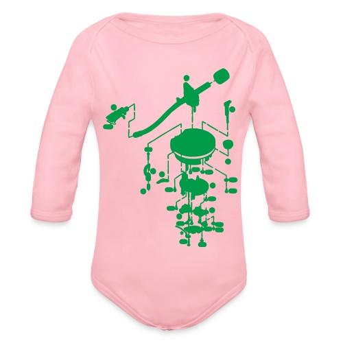 tonearm05 - Baby bio-rompertje met lange mouwen
