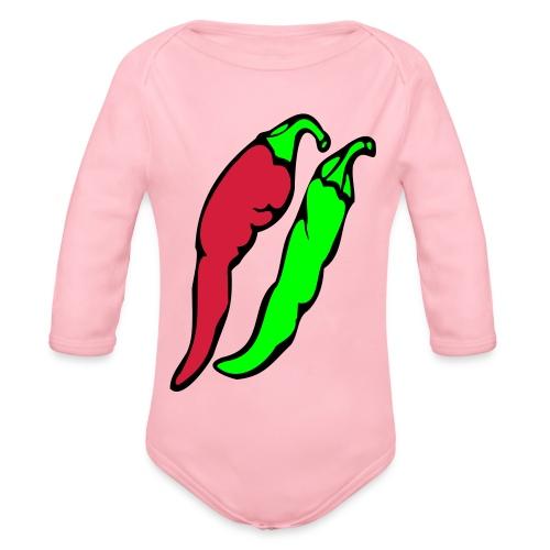 Chilli - Ekologiczne body niemowlęce z długim rękawem
