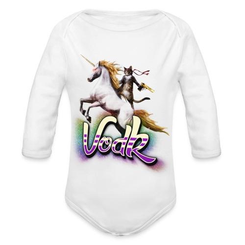 VodK licorne png - Body Bébé bio manches longues