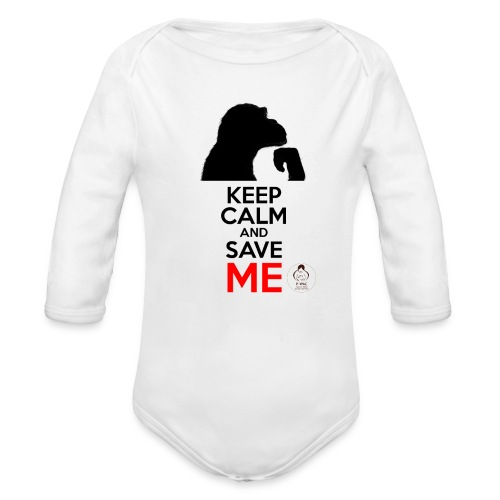 design_keep calm - Body Bébé bio manches longues