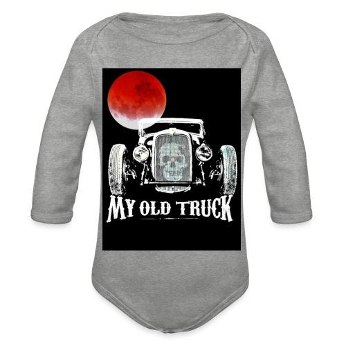 MY OLD TRUCK - Body ecologico per neonato a manica lunga