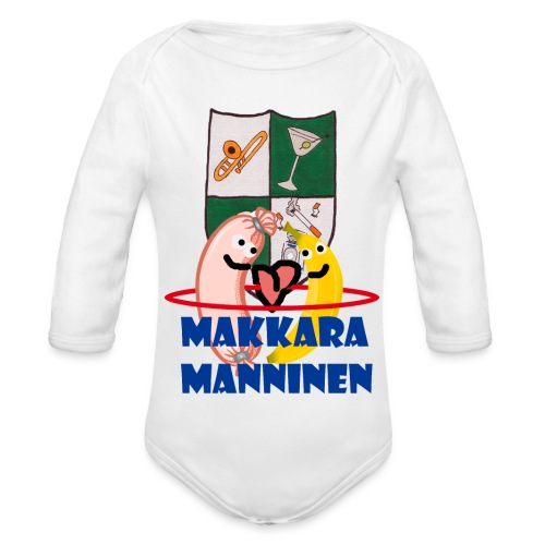 Makkara Manninen -vauvan body - Vauvan pitkähihainen luomu-body