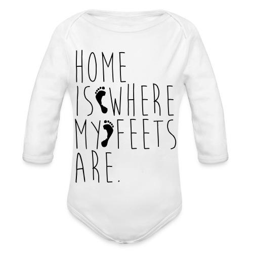 Home is where my feets are - Body ecologico per neonato a manica lunga