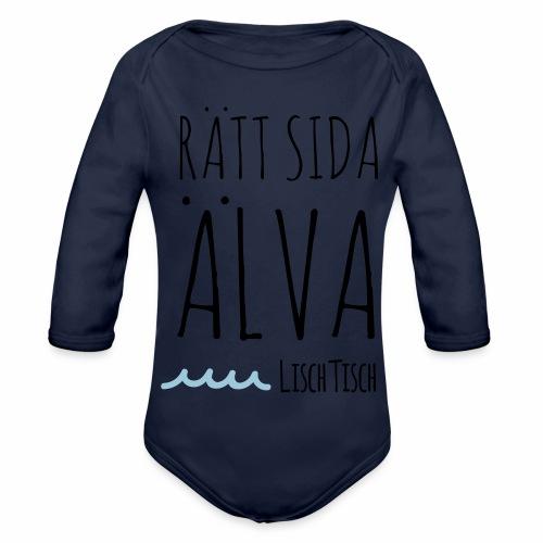 Rätt sida Älva - Ekologisk långärmad babybody
