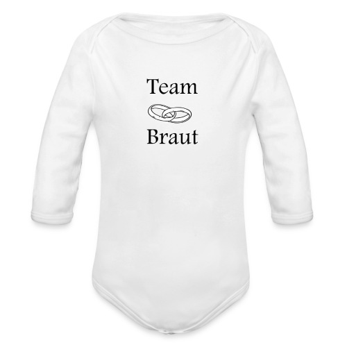 Team Braut - Baby Bio-Langarm-Body