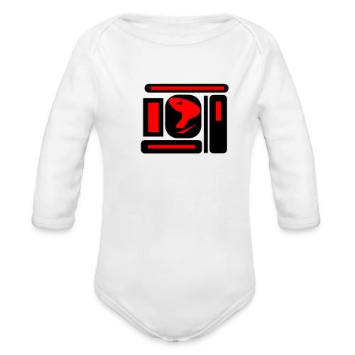 black and red hot P - Baby Bio-Langarm-Body