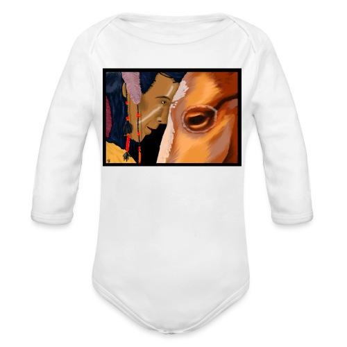 Man and Horse - Baby bio-rompertje met lange mouwen
