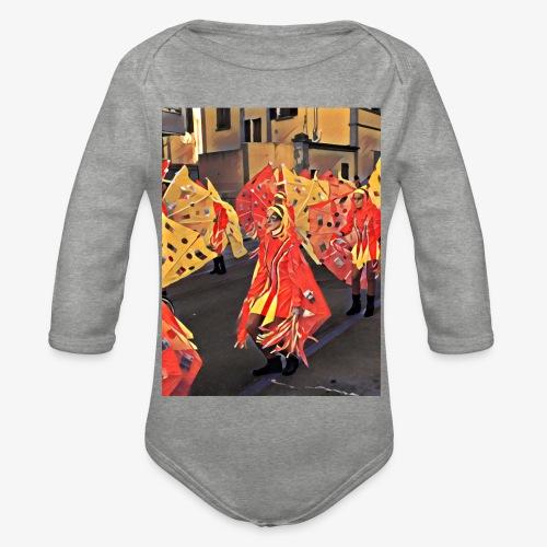 Farfalle Carnevale - Body ecologico per neonato a manica lunga
