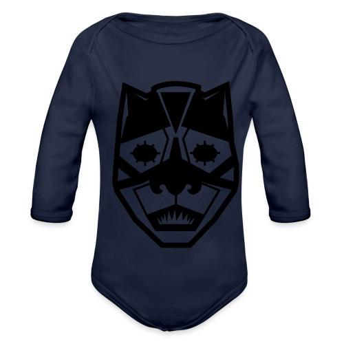 Mask Black - Body ecologico per neonato a manica lunga