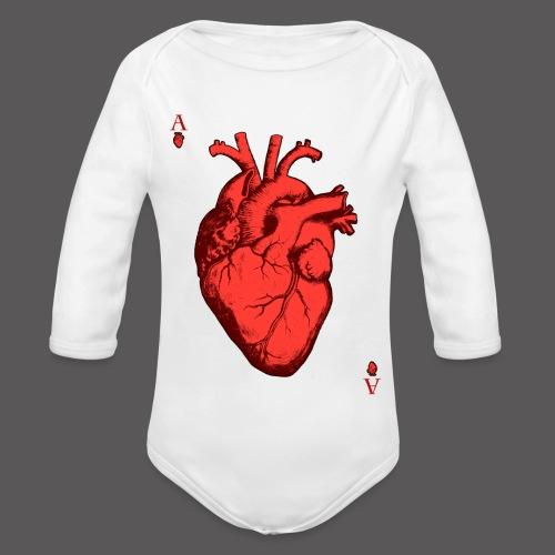 Herz Ass - Baby Bio-Langarm-Body