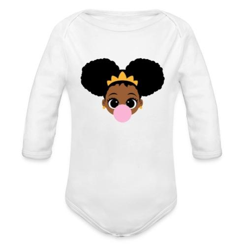 fro girl - Organic Longsleeve Baby Bodysuit