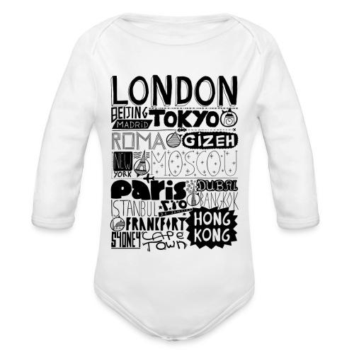 Villes du monde - Body Bébé bio manches longues