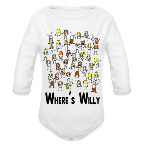 Where's willy - Organic Longsleeve Baby Bodysuit
