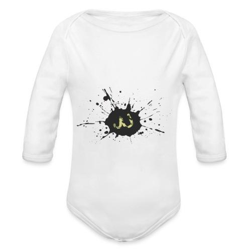 JU spray logo - Vauvan pitkähihainen luomu-body