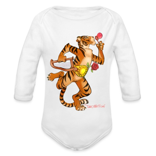 Tiger Vari - Baby Bio-Langarm-Body