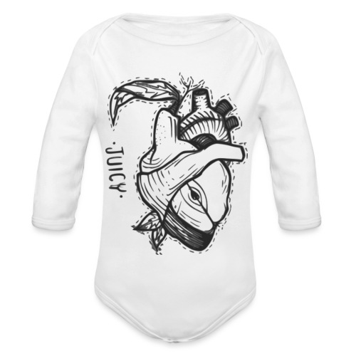 Apple Heart B - Body orgánico de manga larga para bebé