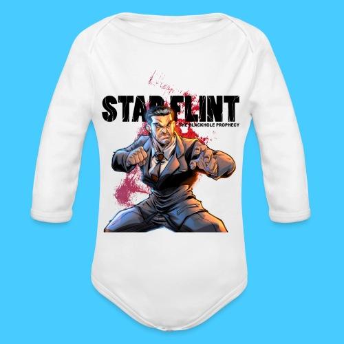 StarFlint Draco Vargas 2 - Body bébé bio manches longues