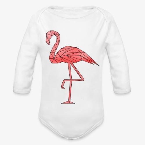 Flamingo Geometrisch - Baby Bio-Langarm-Body