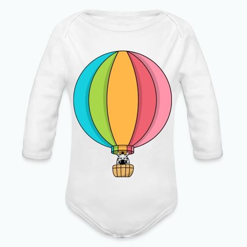 Zebra Zach Air Balloon - Ekologisk långärmad babybody