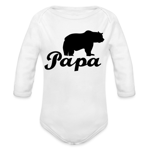papa beer - Baby bio-rompertje met lange mouwen